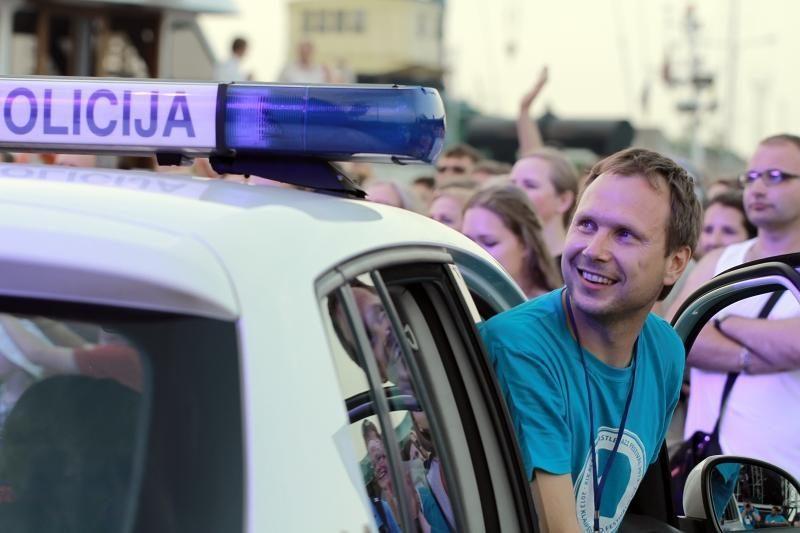 Klaipėdos pilies džiazo festivalyje improvizavo ir policija