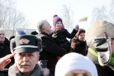 Klaipėdoje vasario 16-osios šventė pritraukė nemažai miestelėnų