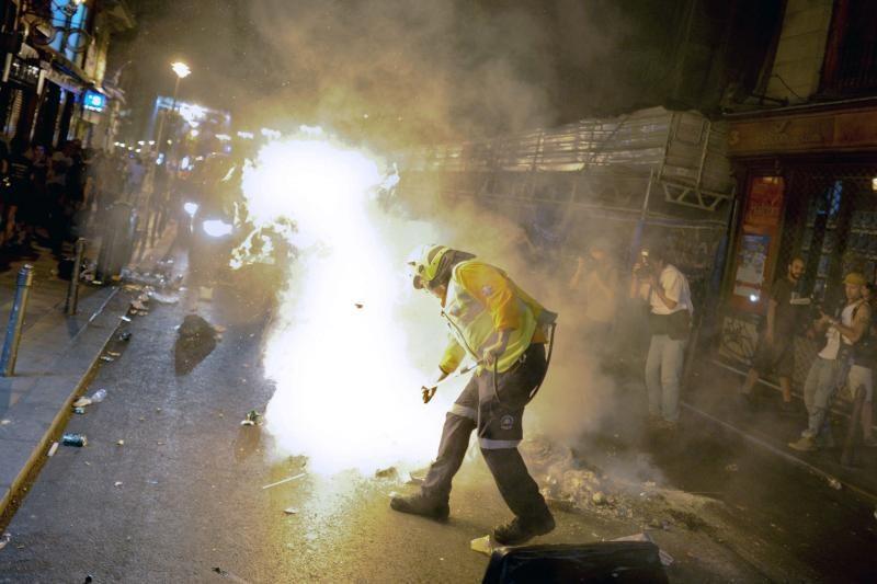 Madride demonstrantai buvo apšaudyti guminėmis kulkomis