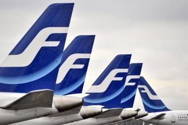 """Dėl Suomijos aviacijos sąjungos paskelbto streiko gali sutrikti """"Finnair"""" skrydžių grafikas"""