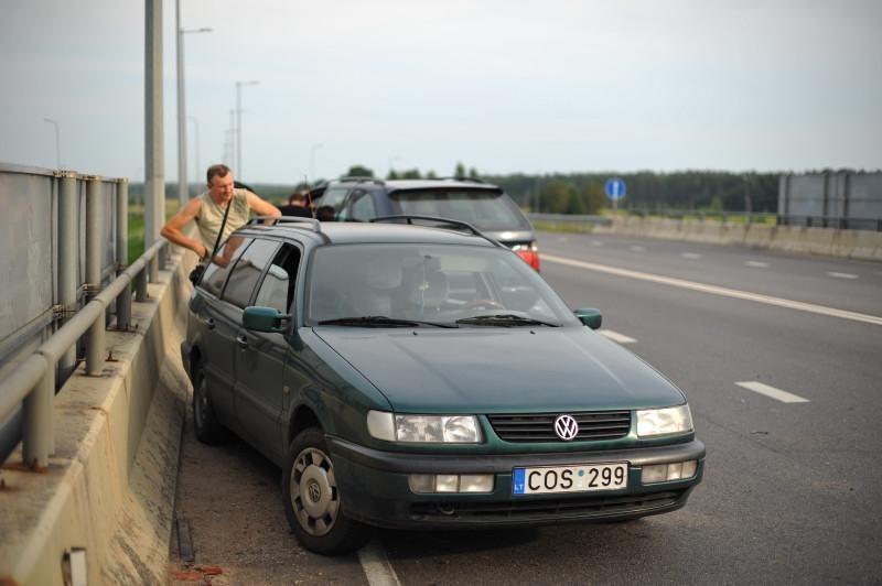 Seimo narys P.Gražulis pateko į avariją