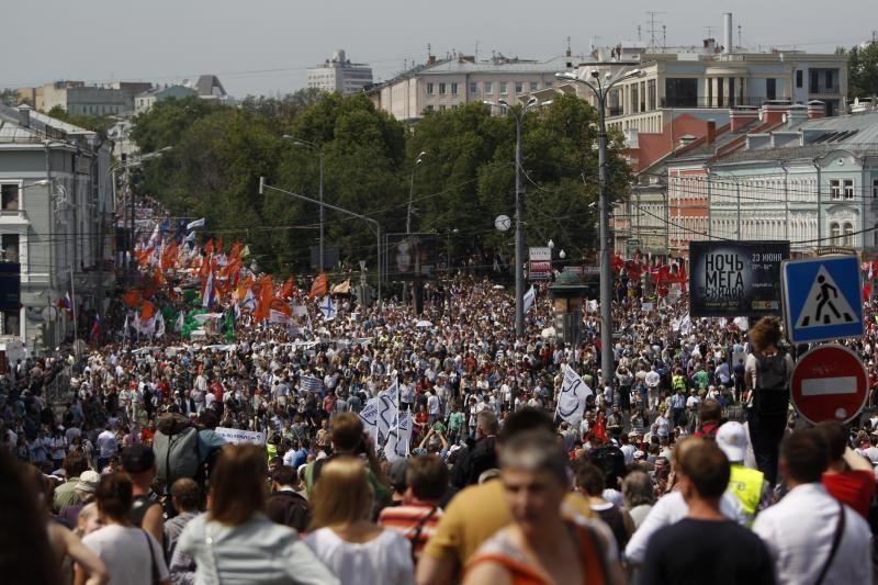 Eitynėse prieš V.Putiną dalyvauja per 100 tūkst. žmonių (atnaujinta)
