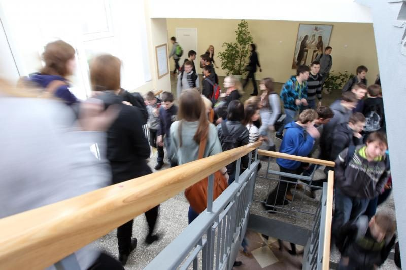 Per mokytojų streiką mokiniai žiūrėjo filmą
