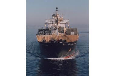 Lietuvos teritoriniuose vandenyse - JAV karinio aprūpinimo laivas