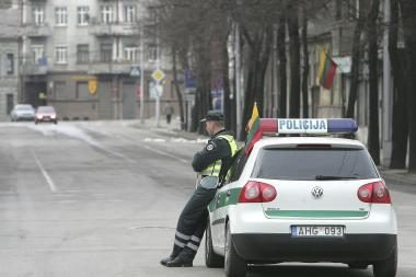 Šventinį savaitgalį policija stiprina pajėgas