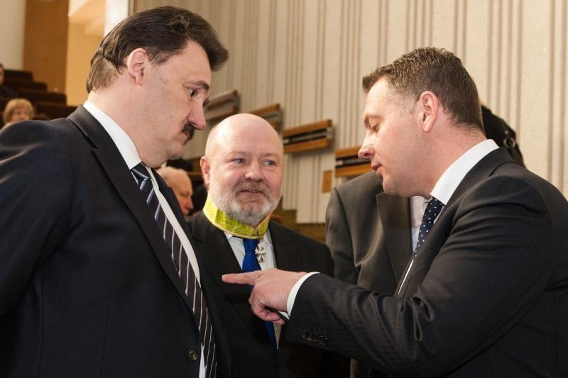 Ministras pirmininkas A.Kubilius apdovanojo klaipėdiečius