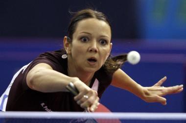 Rūta Paškauskienė pateko į Europos stalo teniso pirmenybių vienetų varžybų pusfinalį