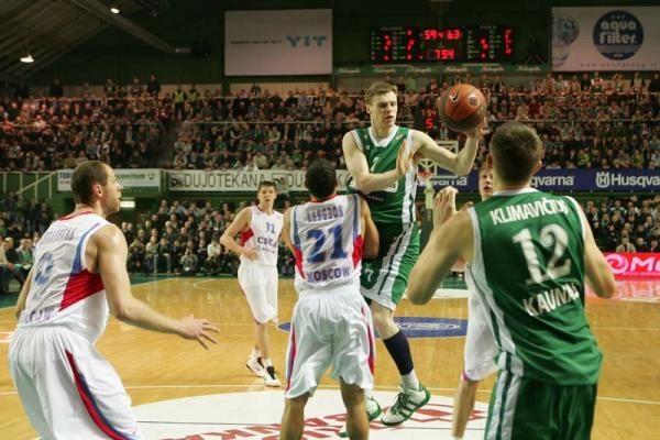 """""""Žalgiris"""" - CSKA: dar viena nesėkmė 68:83 (papildyta)"""