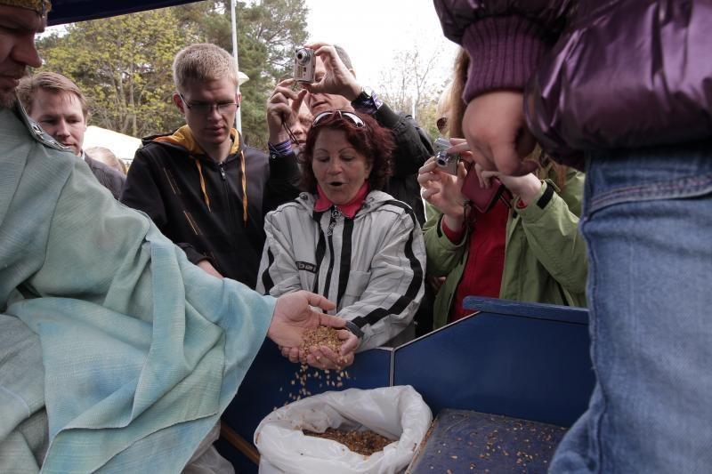 Palangoje  šeštadienį  lijo  gintarais