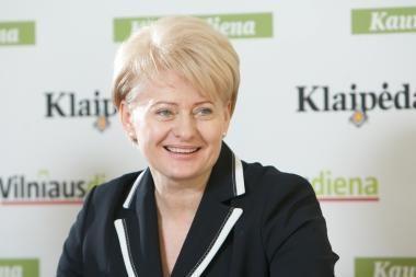 D.Grybauskaitę palankiai vertina 86 proc. gyventojų