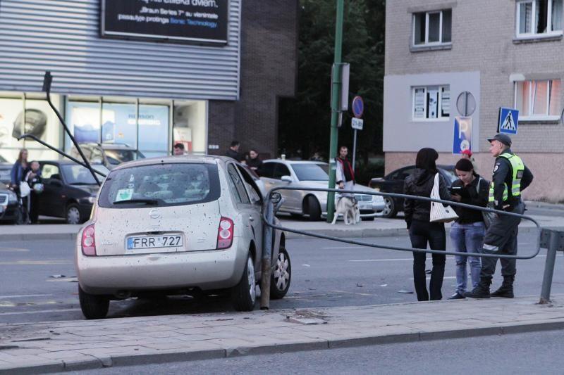 Automobilio gaudynės Klaipėdoje baigėsi avarija