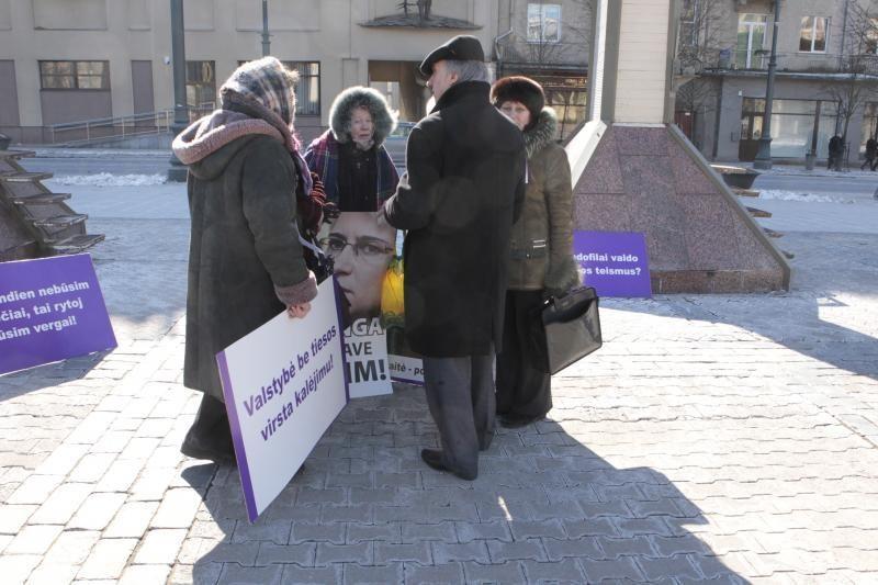Pirmadienį prie Seimo rinkosi N. Venckienės rėmėjai