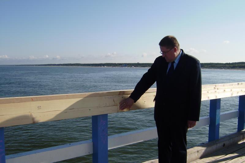 Įsimylėjėlių lenta ant Palangos jūros tilto jau sulaukė pripažinimo
