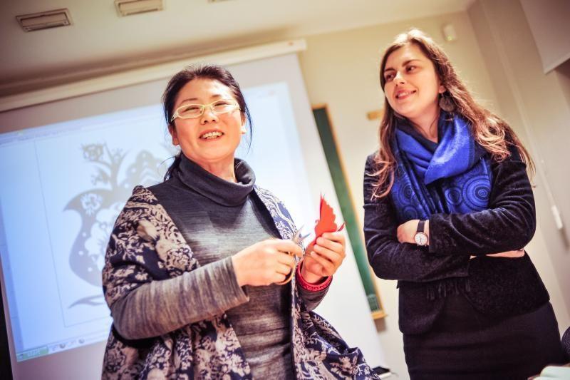Studentai bandė įminti kinų kovos menų paslaptis