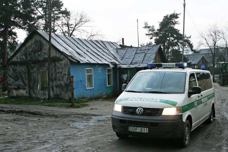 Vilniaus čigonų tabore policija atliko kratą (atnaujinta)