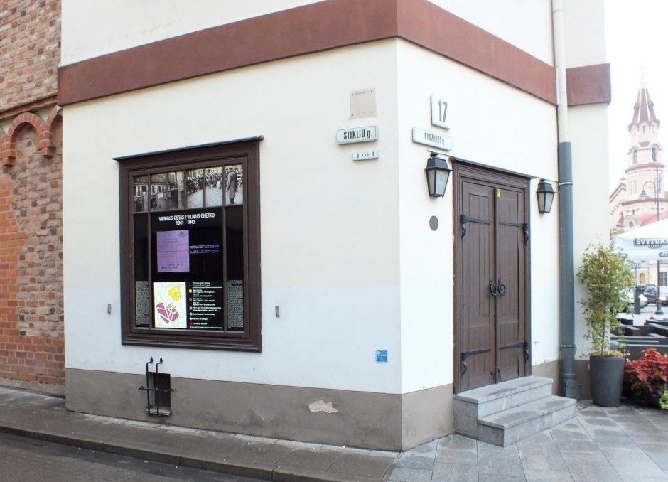 Sostinėje įrengta informacinė vitrina, pasakojanti apie Vilniaus getą