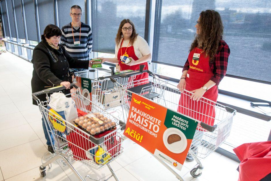 """""""Maisto banko"""" akcijos dalyvis: padėdamas kitiems, padedi sau"""