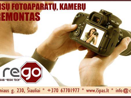 Skelbimas - Profesionalus, greitas FOTO/VAIZDO kamerų remontas Šiauliuose