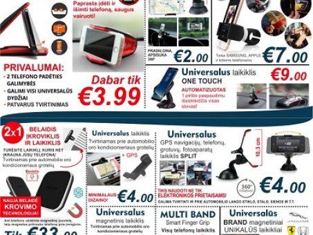 Skelbimas - Universalūs Samsung, APPLE ir k.t. telefonų LAIKIKIKLIAI