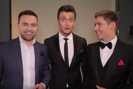 """To dar nebuvo: """"Euroviziją"""" ves trys vyrai"""