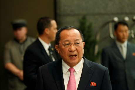 Šiaurės Korėjos ministras sako, kad D. Trumpas paskelbė karą jo šaliai