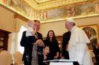 S. Skvernelį su šeima priėmė popiežius