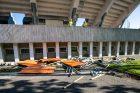 Darbo inspekcijos vizitas rekonstruojamame Kauno stadione