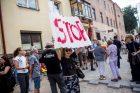 Protestas Miško gatvėje dėl kertamų medžių