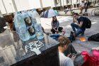 Jaunimo protesto akcija prieš naują Darbo kodeksą