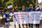 Profesinių sąjungų protestas prie Seimo
