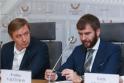 Ramūnas Karbauskis ir advokatas Evaldas Valčiukas