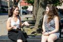 Atradimas: Kotryna (kairėje) ir Vita įsitikinusios, kad debatai smarkiai pakeitė jų gyvenimus.