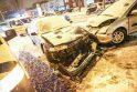 Savanorių prospekte susidūrė keturi automobiliai ir troleibusas