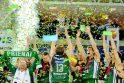 """""""Prienai"""" pirmą kartą tapo LKF taurės laimėtojais"""