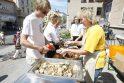 Karštą dieną – eilė prie Jūros šventės žuvienės