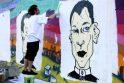 Graffiti piešinyje K.Kemzūra virto mafijos šeimos galva