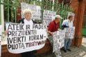 Piketas – dėl Klaipėdos prokuroro melo