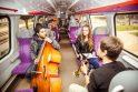 Kauną ir Vilnių sujungė džiazuojantis traukinys