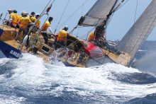 """Jachta """"Ambersail"""" startuoja """"Volvo Ocean Race"""" Legendų regatoje"""