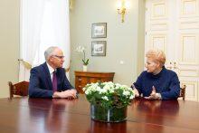 Prezidentė susitiko su kandidatu į švietimo ministrus