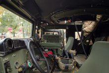 Į avariją pateko vokiečių karių automobilis, žmonės nenukentėjo