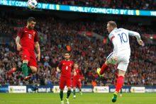 Anglijos futbolininkai įveikė Portugalijos rinktinę