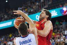 Ispanijos krepšininkai vargo su čekais neturėjo