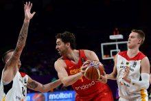 Brolių Gasolių vedama Ispanijos krepšinio rinktinė patiesė vokiečius