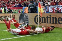 Europos futbolo čempionatas: Velsas nukovė Slovakijos rinktinę