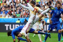 Europos futbolo čempionų fiasko: Ispanijos rinktinė nepateko į ketvirtfinalį