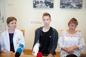 Stebukladarių medikų išgelbėtas septyniolikmetis: esu laimingas