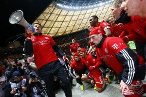 """Miuncheno """"Bayern"""" ekipa ramiai užsitikrino Vokietijos futbolo čempionės titulą"""