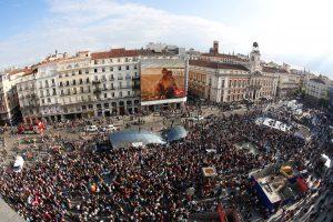 """Ispanai paminėjo 5-ąsias protestų judėjimo """"Indignados"""" metines"""