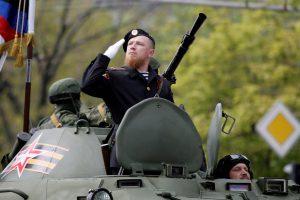 Ukrainos separatistai atsisveikina su liūdnai pagarsėjusiu savo lyderiu
